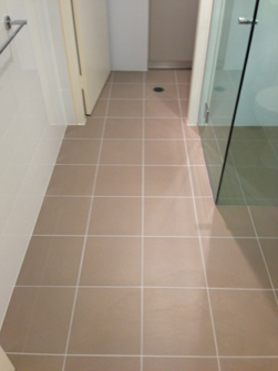 Floor Grout After ReColouring