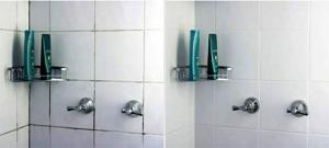 Shower Tile Regouting Before & After