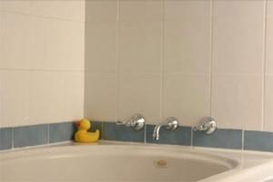Shower over Bath After Tile Regrouting